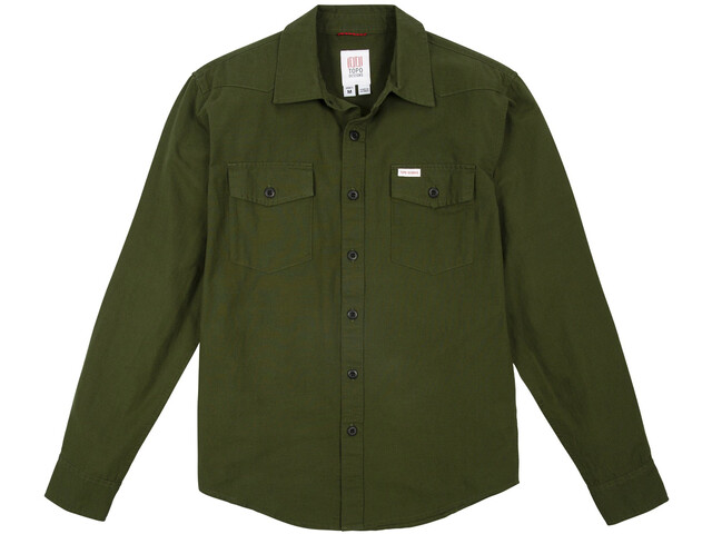 Topo Designs Mountain Lightweight Maglietta Uomo, verde oliva